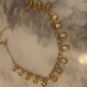 Kate Spade Crystal Yellow and White Necklace